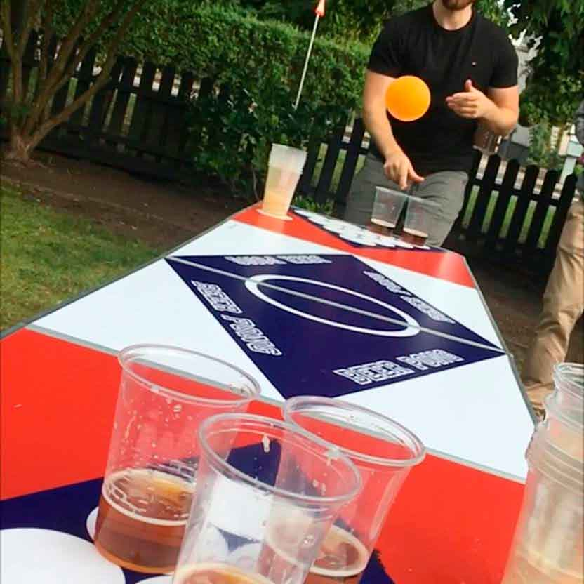 Beerpong bord fest